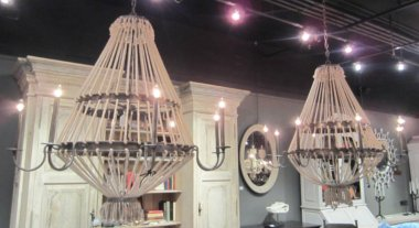 Love these chandeliers!