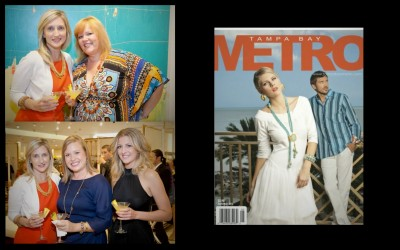 Wendy Garraty(Clayton Gray Home(Owner) and Ronda Parag(Tampa Bay Metro Publisher/Managing Editor).  The lovely ladies of Clayton Gray Home and the latest Tampa Bay Metro cover for April/May 2012.