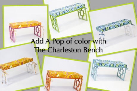 To see all of our options for the Charleston Bench, visit www.claytongrayhome.com or e-mail sales@claytongrayhome.com for more information.