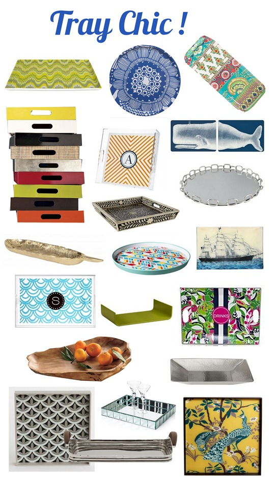 Our Scallop Tray(bottom left) featured in Better Homes and Garden's Centsational Style.