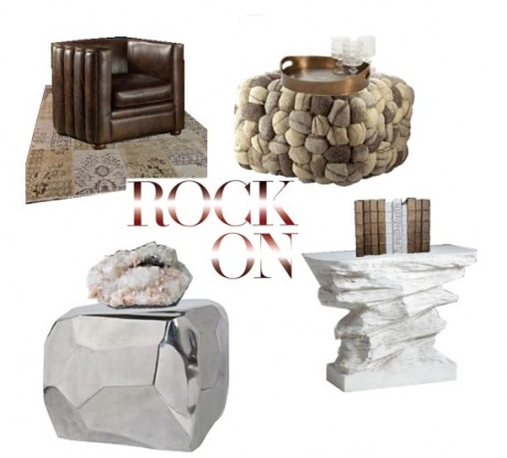 A few of our favorite rock themed pieces which can bring a sense of organic, natural beauty to any room.