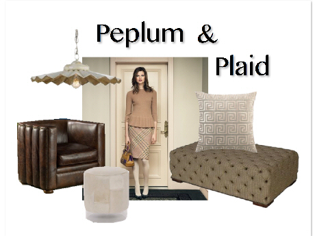 Clayton Gray Home Decor Peplum Plaid