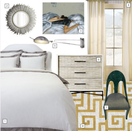 Loving our Dawes Tufted Rug in this wonderfully inspirational bedroom collage!