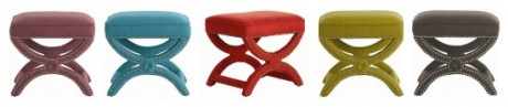 Here our Arteriors Tennyson Stool  is shown in all flavors we offer!