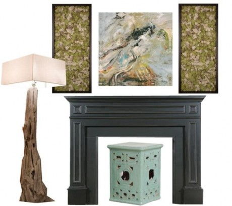 Spring Jazzed Fireplace mantel