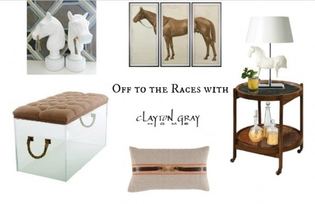 clockwise from top left horse head bookends by ro sham beaux lord denver horse triptych by natural curiosities the horse lamp by barbara cosgrove - Horse Decor