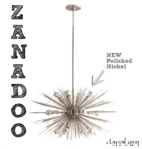 Zanadoo Chandelier - Polished Nickel by Arteriors Home