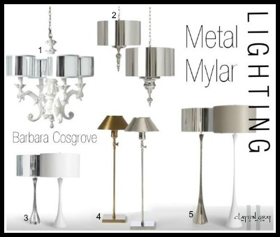 Metal Mylar Lighting Barbara Cosgrove