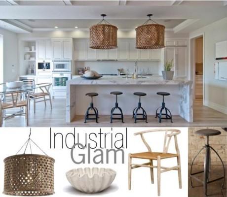 Industrial Glam Kitchen