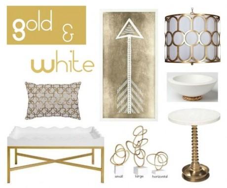Gold + White