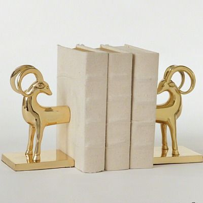 Global Views Gazelle Bookends