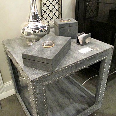 Grinning For Shagreen Boasting For Burl Wood Clayton Gray Home - Studded coffee table