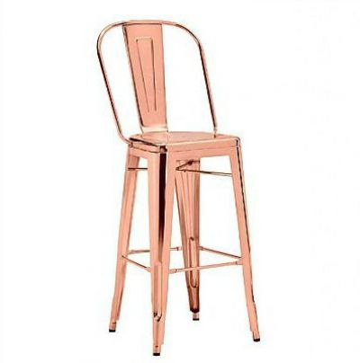 Elio Bar Stool Rose Gold 1