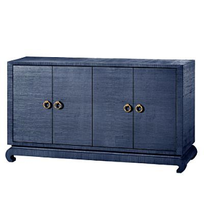 Meredith 4-Door Cabinet Blue 1