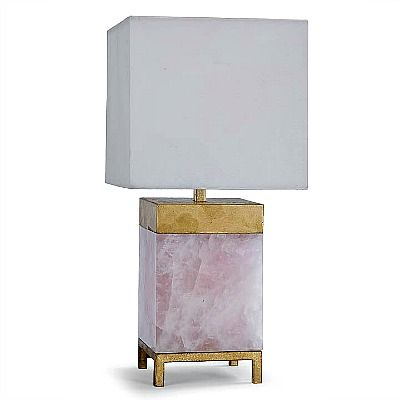 RA Jillian Table Lamp Rose Quartz 1