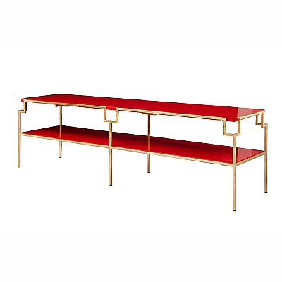 Worlds Away Red Lacquer Coffee Table 3